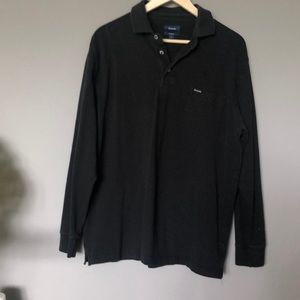 Faconnable black long sleeve shirt